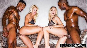 Video porno novinhas loira em suruba com os negros